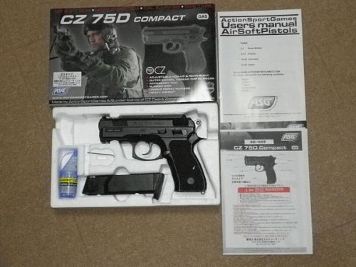 ASG CZ75D コンパクト ガスガン