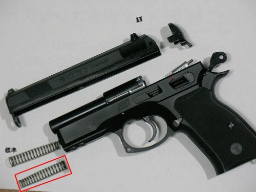 ASG CZ75D コンパクト ガスガン 分解