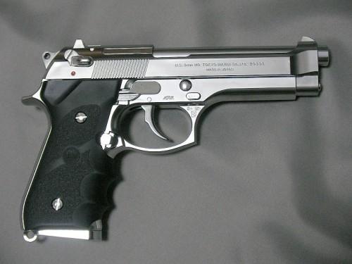 マルイ M92F クロームステンレス ガスブローバック